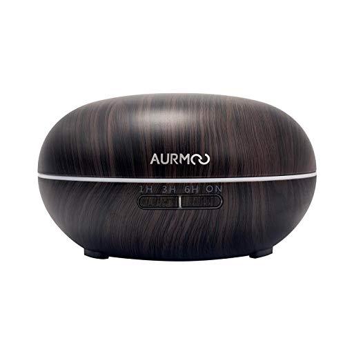 Diffusore di Olio Essenziale, Diffusori 500 ml Diffusore di Aromaterapia, Diffusore di Aromi ad Ultrasuoni Umidificatore con Luci a LED 7 Colori e Spegnimento Automatico Senza Acqua.