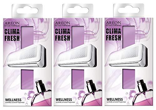 Areon Clima Deodorante Ambiente Benessere Filtri Condizionatori Profumati Casa Viola ( Wellness Set di 3 )