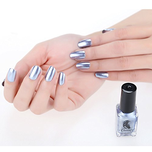 BOLANQ - Smalto a specchio per unghie, in acciaio INOX, colore: argento