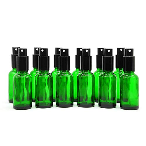 Yizhao Verde Bottiglie Spray Vetro 30 ml, con Vaporizzatore Fine e Spruzzatore Pompa di Metallo, per Profumo, Aromaterapia,Olio Essenziale - 24 Pcs