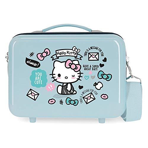 Hello Kitty You are Cute Borsa da toilette in ABS adattabile, 29x21x15 cms, Azul