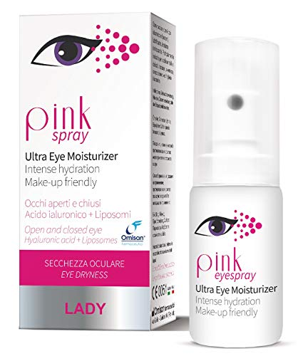 Pink Spray Lady - Idratante Oculare Spray con Acido Ialuronico e Liposomi - 10 Ml