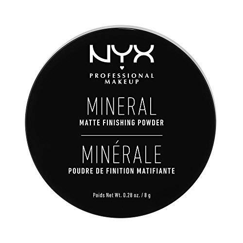 NYX Professional Makeup Mineral Finishing Powder, Polvere libera, Finish matte, Riduce le zone lucide, Tonalità: Light/Medium
