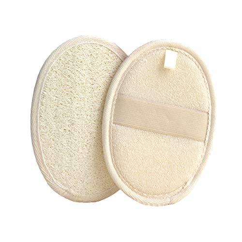 Jinlaili Spugna Esfoliante Spugna Luffa, Loofah Doccia para Naturale Luffa e Spugna alta qualità Materiale sicuro e comfort, Tampone in spugna per tutti tipi pelle (2 Pezzi)