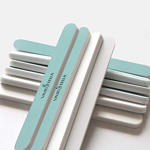Lima Per Unghie Buffer Blocco Levigante Professionale Levigatura 10Pz Utensili per Manicure Lucidante per Unghie Naturali