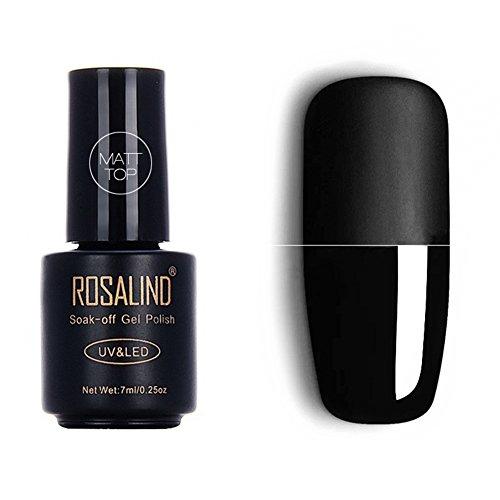 Smalto top coat in gel opaco, 7 ml, per manicure con lampada UV o LED