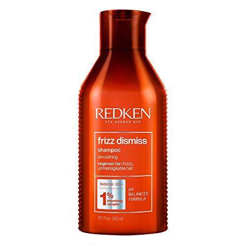 Redken Frizz Dismiss Shampoo Professionale | Capelli da Normali a Crespi | Deterge delicatamente e combatte il crespo donando morbidezza, nutrimento e brillantezza | 300 ml