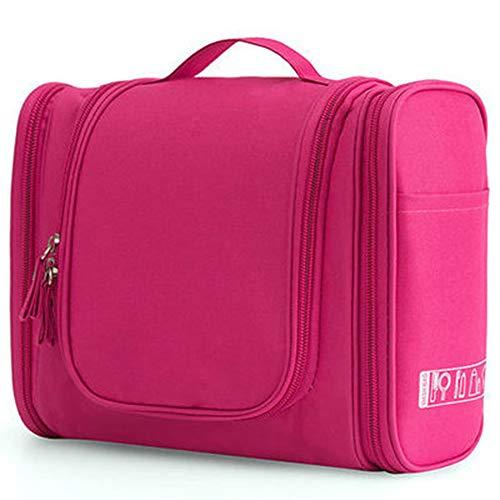 Impermeabile Nylon Organizzatore Di Viaggio Borsa Organizzatore Di Nylon Donna Unisex Cosmetic Bag Hanging Travel Makeup Borse Da Viaggio Lavaggio Toiletry Kit Di Lavaggio Borse Di Stoccaggio- pink