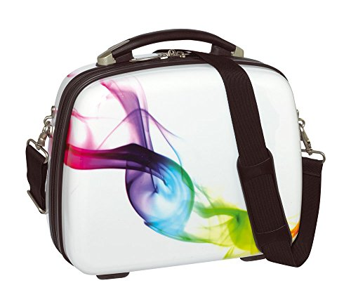 Mano valigetta cosmetici beauty-Case valigetta rigida WAVE con cinghia + per manicure