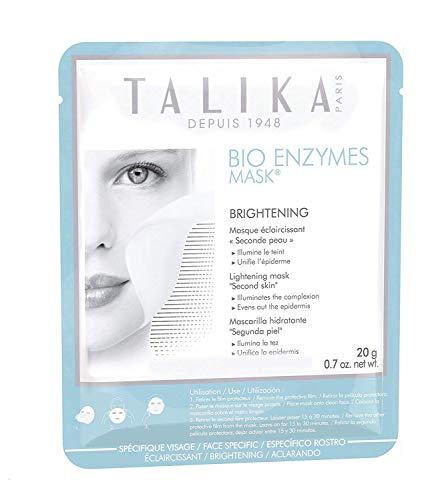 Bio Enzymes Mask Brightening - Talika - Maschera viso illuminante - Maschera alla biocellulosa per carnagione spenta e macchie scure - Maschera effetto seconda pelle