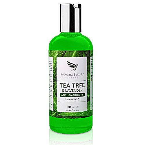 Shampoo Antiforfora Uomo e Donna Arricchito con Tea Tree Oil Puro 100% - Olio Essenziale dell'Albero del Tè Olio di Lavanda - Shampoo Tea Tree- Shampoo secchi- Doccia Shampoo Uomo-Shampoo Anticaduta