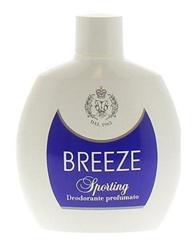 6 Deodoranti Breeze Squeeze SPORTING Deodorante Profumo per il corpo