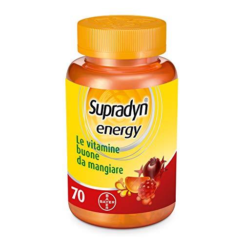 Supradyn Energy Integratore Alimentare di Vitamine con Coenzima Q10, Senza Glutine, 70 Caramelle Gommose