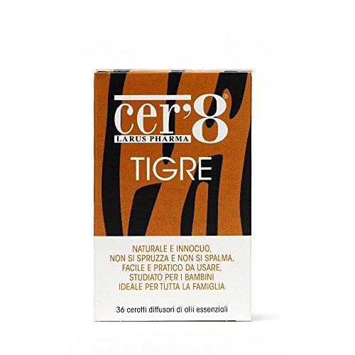 Larus Pharma Cer'8 Tigre Diffusori Di Oli Essenziali 36 Cerotti