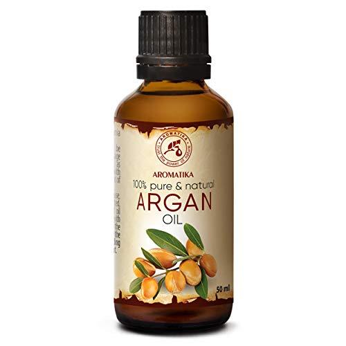 Olio di Argan 50ml - Argania Spinosa - Marocco - Naturale e Puro al 100% - Cura Intensiva per Viso - Cura del Corpo - Olio per Capelli - Ottimo con Olio Essenziale - Relax - Massaggi - Cosmetici