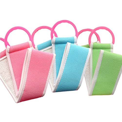 Beaupretty 3 Pz Asciugamani da Bagno Esfoliante Telo da Bagno in Nylon Giapponese Bellezza Pelle Bagno Lavaggio Panno per Donna Uomo Bambini (Colore Casuale)