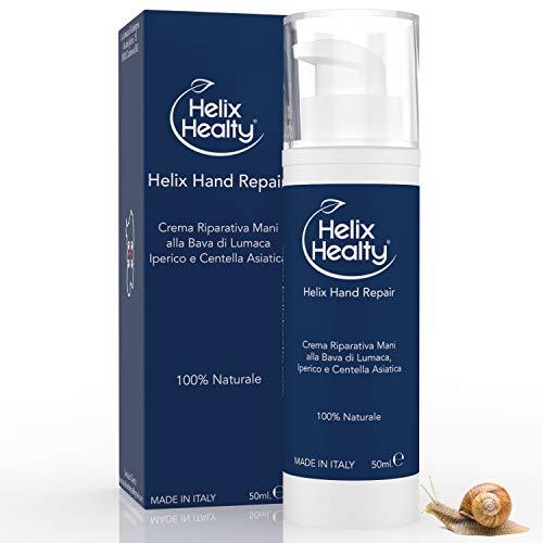 Helix Hand Repair Crema Riparativa Mani alla Bava di Lumaca Iperico e Centella Asiatica 100% NATURALE 50ML Helix Healty Made in Italy