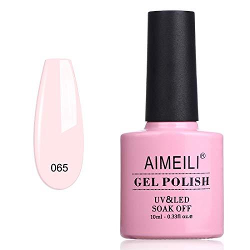 AIMEILI Smalto Semipermanente UV LED in Gel Smalti per Unghie Soak Off - Pink Nude (065) 10ml
