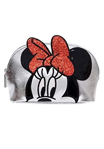 Danielle Nicole - Astuccio per cosmetici argentato Minnie Mouse