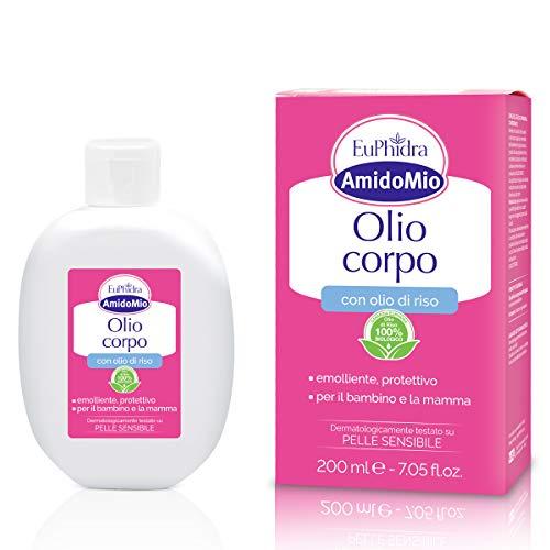 Amido Mio Olio Corpo, Rimuove la Crosta Lattea dei Neonati - 200 ml