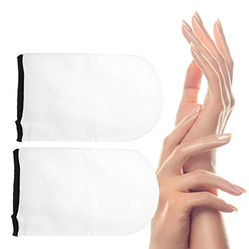 Guanti per terapia con paraffina, guanti per cura delle mani in cotone per la cura della conservazione del calore, guanti per terapia con cera per paraffina per terapia del calore
