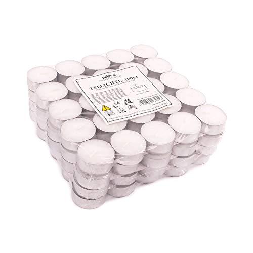 pajoma tè luci pajoma non profumate 100 pezzi, tempo di combustione: 4 ore, tè luci Gastro