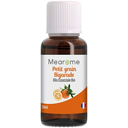 Olio Essenziale Biologico PETIT GRAIN BIGARADE (Citrus Aurantium) distillato in Francia - 30ml - 100% Puro e Naturale, HEBBD, HECT – Nutrimea Mearome