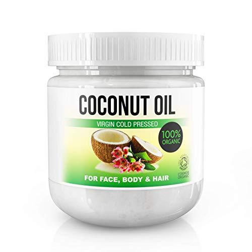 Olio di cocco extra vergine pressato a freddo per il corpo, capelli, unghie, viso e cuticole, latte idratante di cocco, 100% Bio 500 ml