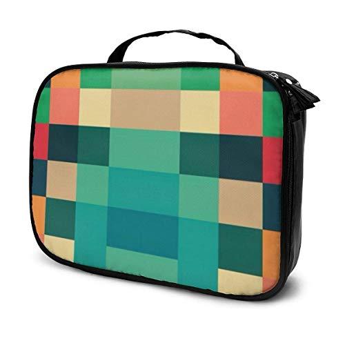 Lawenp Colore Mosaico Art Trucco Custodie per treni Borsa da viaggio professionale Custodia per cosmetici Custodie per cosmetici Organizer Custodia portatile per cosmetici Pennelli per trucco Articol