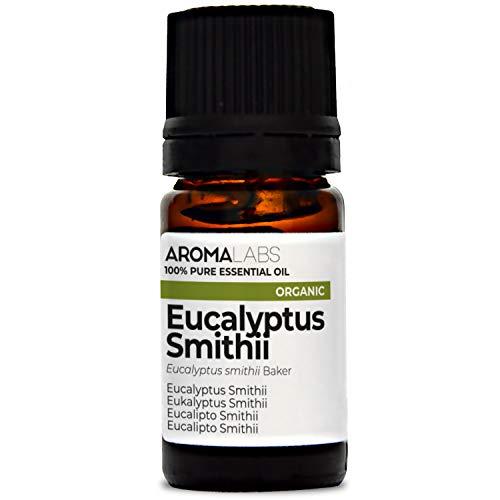 Aroma Labs Eucalipto Smithii Bio - 5Ml - Olio Essenziale Bio E Naturale Al 100% - Qualità Verificata Mediante Cromatografia - Aroma Labs - 5 ml
