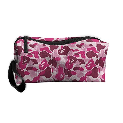 Bape Camo Pink Toiletry Bag Multifunction Cosmetic Bag Portable Makeup Pouch Travel Hanging Organizer Bag