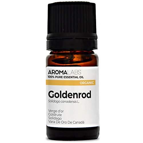 Solidago BIO - 5 ml - Olio essenziale BIO e Naturale al 100% - Qualità verificata mediante cromatografia - Aroma Labs