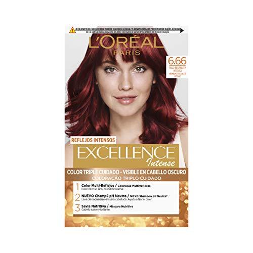 L'Oréal Excellence Intense Tinta per Capelli, 6.66 Rojo - 120 ml
