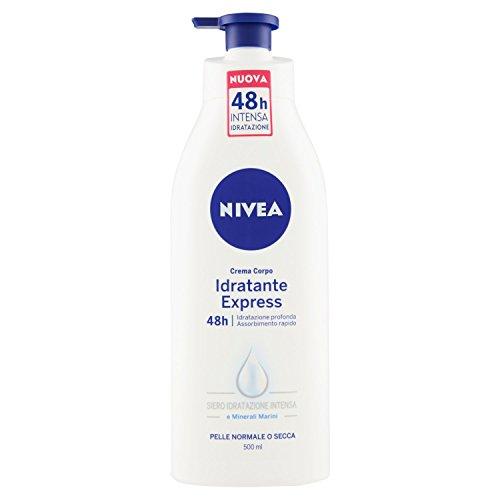 Nivea - Crema Corpo Idratante Express - Assorbimento Extra Rapido, Idratazione Profonda E A Lunga Durata - 500Ml