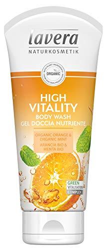 Lavera, bagnoschiuma ad alta vitalità, vegano, biologico per la cura della pelle, cosmetici naturali e innovativi, 200 ml
