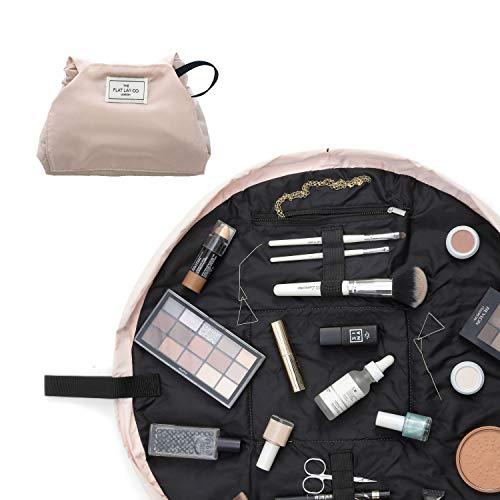 The Flat Lay Co. - Valigetta per trucchi, beauty-case da viaggio, il contenuto mostrato in foto non è incluso nella confezione rosa Rosa cipria 50 cm