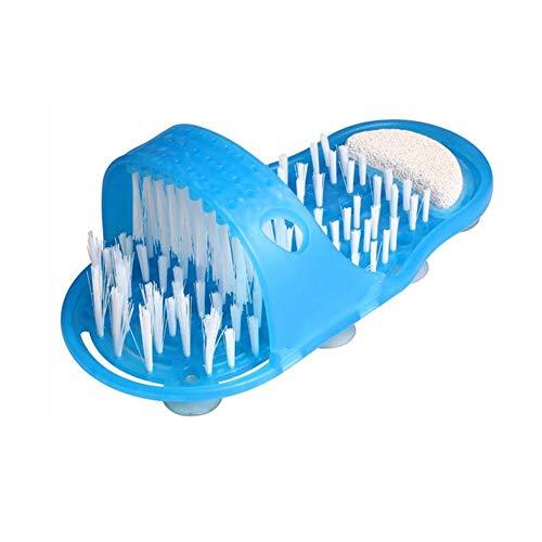 Househome - Pantofola massaggiatore per piedi da bagno, l'originale doccia sandalo, spazzola con setole per la pulizia del piede
