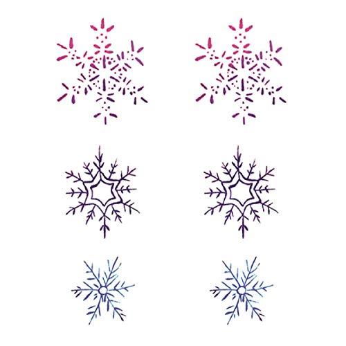 YLGG Adesivi per Tatuaggi temporanei alla Moda con Fiocco di Neve, Adatti per Uomini e Donne, Impermeabili, Rimovibili