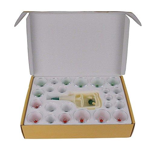 Feibrand 24 Pezzi Coppettazione Massaggio Vacuum Terapia Set con 12 Testina Magnetica