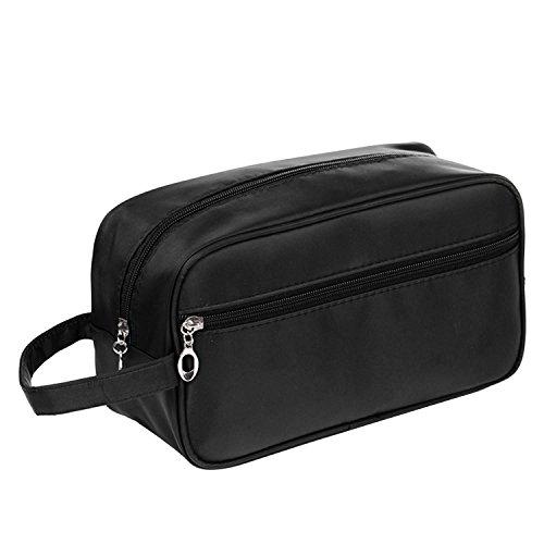 Unisex Uomini Donne Portatile Impermeabile Grande Capacità Viaggio Toiletry Wash Bag Rasatura Borsa Trucco Toelettatura Toilet Bag Nero