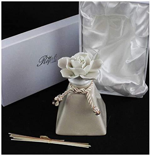 DLM29504 Bomboniera Profumatore Bianco in Ceramica con Fiore Diffusore per Ambienti bomboniera