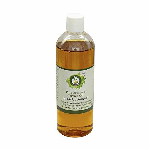 Olio senape   Brassica Juncea   Olio seme senape   Non raffinato   Per capelli   Per la pelle   Per il massaggio   100% puro   Pressato a freddo   Mustard Oil  100ml   3.38oz By R V Essential