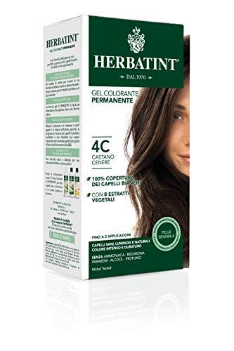 Herbatint Gel Colorante Permanente 4C Castano Cenere 150ml
