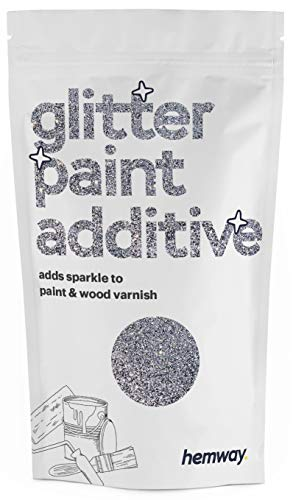 Hemway - additivo glitter per pittura a emulsione a base d'acqua - 110g - Argento