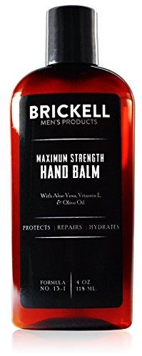 Brickell Men's Products Lozione Idratante Mani Massima Intensità - 118 mL - Naturale ed Organica