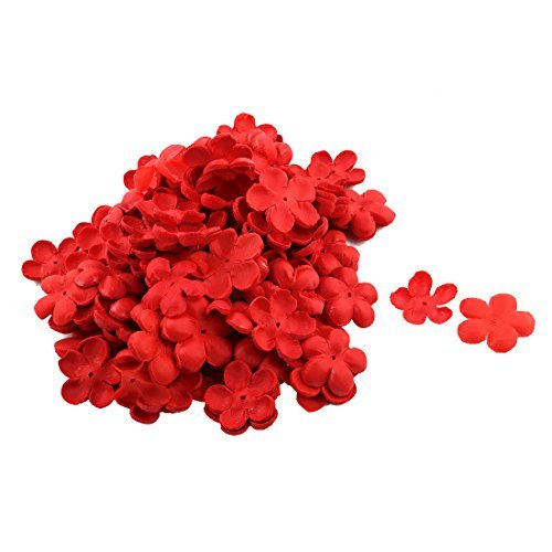 DealMux Tessuto festa di nozze Tabella nuziale Fiore di pesca Fiore Tatuaggi petalo 5120 PCS Red