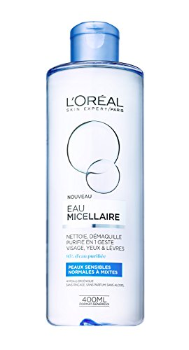L'Oréal Paris, acqua micellare per pelli normali e miste, 400ml, (lingua italiana non garantita)