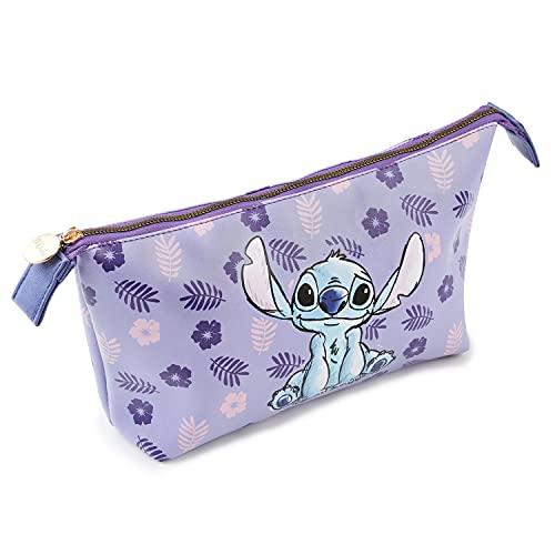 Disney Pochette Donna Trucchi, Beauty Case Da Viaggio Per Ragazza, Trousse Make Up Di Stitch, Idea Regalo Disney
