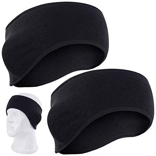 KARAA - Fascia per capelli in pile, per donne e uomini, per sport invernali, per le orecchie, per corsa, yoga, sci, sport all'aria aperta