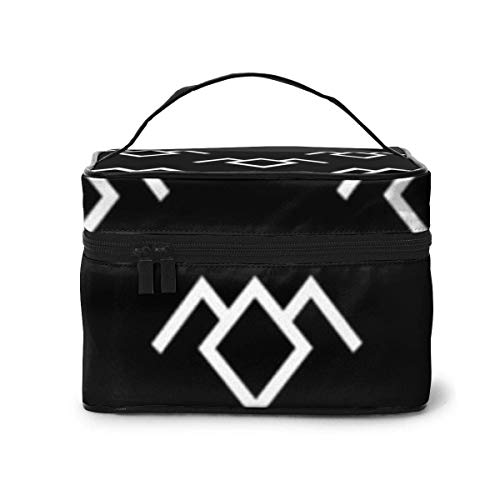 Borse per cosmetici Twin Peaks Owl Petroglyph Travel Cosmetic Case Organizer Portable Artist Storage Bag with,Built-in Pocket,Multifunction Case Toiletry Bags for Women Travel Daily